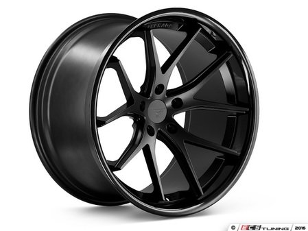 "ES#3083617 - FR2201055112Bkt3 - 20"" FR2 Style Wheels - Set Of Four - 20""x10.5"" ET28 66.6CB 5x112 Matte Black with Gloss Black lip - Ferrada Wheels - Audi"