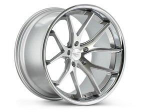 "ES#3410149 - fr22295130msKT - 22"" FR2 Style Wheels - Set Of Four - 22""x9"", ET43, 71.6CB, 5x130, Machine Silver with Chrome Lip - Ferrada Wheels - Audi Volkswagen Porsche"