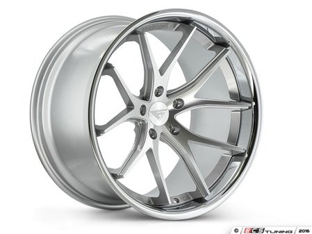 "ES#3083626 - FR2201155112S1kt - 20"" FR2 Style Wheels - Set Of Four - 20""x11.5"" ET30 57.1CB 5x112 Machine Silver with Chrome Lip - Ferrada Wheels - Audi"