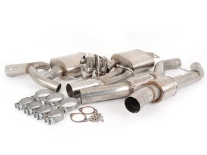 "ES#3478471 - cor14861sKT - Corsa Cat-Back Exhaust System - Silver Tips - Larger 3.5"" tubing with 4"" silver twin exhaust tips to increase sound and performance - Corsa - BMW"