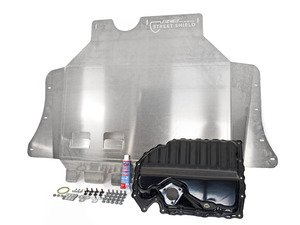 ES#3083650 - 018573ECS01KT2 - Ultimate Oil Pan Protection Package - Featuring the ECS Street Shield Aluminum Skid Plate and the stamped steel oil pan replacement kit! - Assembled By ECS - Audi