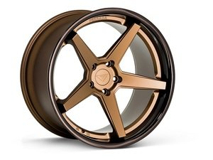 "ES#3083726 - FR3201055112Zkt2 - 20"" FR3 Style Wheels - Set Of Four - 20""x10.5"" ET38 57.1CB 5x112 Matte Bronze with Gloss Black lip - Ferrada Wheels - Audi"