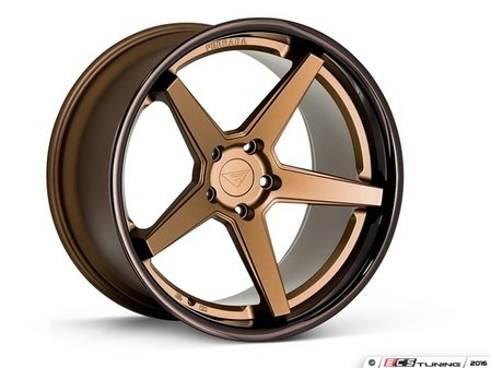 "ES#3083720 - FR32095112Z1kt - 20"" FR3 Style Wheels - Set Of Four - 20""x9"" ET35 57.1CB 5x112 Matte Bronze with Gloss Black lip - Ferrada Wheels - Audi"