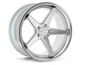 """ES#3083728 - FR3201055112Skt2 - 20"""" FR3 Style Wheels - Set Of Four - 20""""x10.5"""" ET38 57.1CB 5x112 Machine Silver with Chrome Lip - Ferrada Wheels - Audi"""