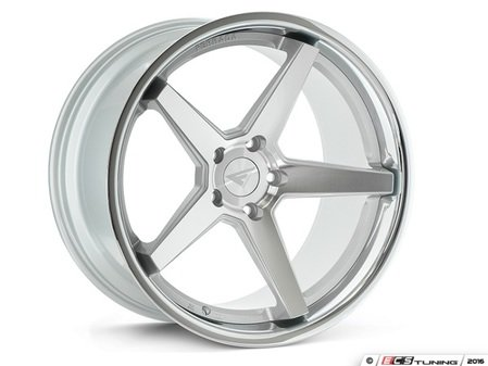 "ES#3083723 - FR32095112S2kt - 20"" FR3 Style Wheels - Set Of Four - 20""x9"" ET35 66.6CB 5x112 Machine Silver with Chrome Lip - Ferrada Wheels - Audi BMW"