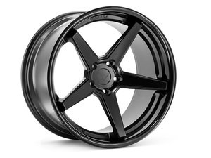 "ES#3083730 - FR322955112MBkt - 22"" FR3 Style Wheels - Set Of Four - 22""x9.5"" ET15 66.6CB 5x112 Matte Black with Gloss Black lip - Ferrada Wheels - Audi"