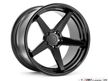 "ES#3083685 - FR3201155112Bkt1 - 20"" FR3 Style Wheels - Set Of Four - 20""x11.5"" ET15 66.6CB 5x112 Matte Black with Gloss Black lip - Ferrada Wheels - Audi"