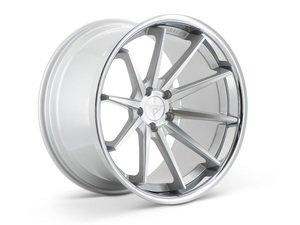 "ES#3085045 - FR42095112S1kt - 20"" FR4 Style Wheels - Set Of Four - 20""x9"" ET35 57.1CB 5x112 Machine Silver with Chrome Lip - Ferrada Wheels - Audi"
