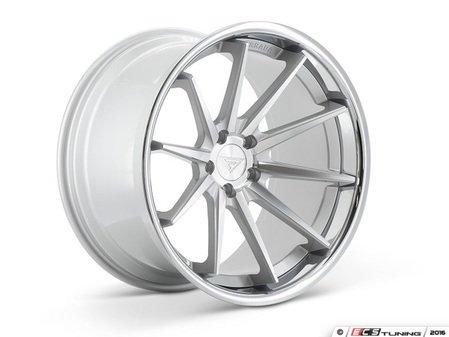 """ES#3085021 - FR4201155112Skt1 - 20"""" FR4 Style Wheels - Set Of Four - 20""""x11.5"""" ET15 66.6CB 5x112 Machine Silver with Chrome Lip - Ferrada Wheels - Audi"""