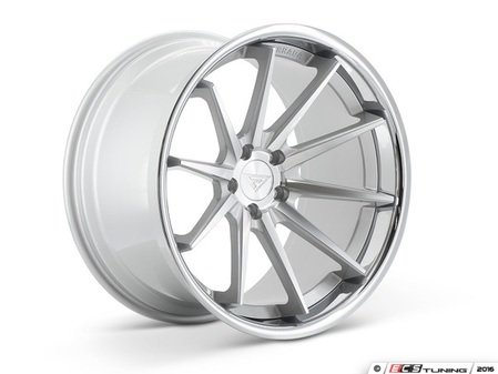 "ES#3085046 - FR42095112S2kt - 20"" FR4 Style Wheels - Set Of Four - 20""x9"" ET35 66.6CB 5x112 Machine Silver with Chrome Lip - Ferrada Wheels - Audi BMW"
