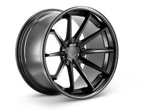"ES#3085015 - FR4201155112Bkt - 20"" FR4 Style Wheels - Set Of Four - 20""x11.5"" ET15 57.1CB 5x112 Matte Black with Gloss Black lip - Ferrada Wheels - Audi"