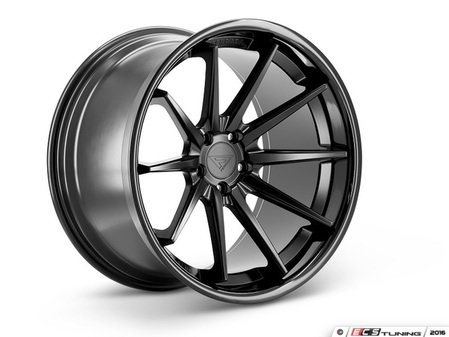 "ES#3085055 - FR422115112MBkt - 22"" FR4 Style Wheels - Set Of Four - 22""x11"" ET20 66.6CB 5x112 Matte Black with Gloss Black lip - Ferrada Wheels - Audi"