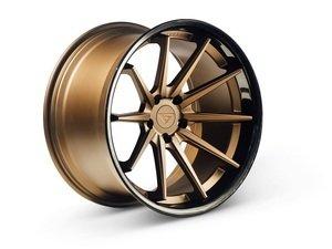"ES#3085018 - FR4201155112Zkt - 20"" FR4 Style Wheels - Set Of Four - 20""x11.5"" ET15 57.1CB 5x112 Matte Bronze with Gloss Black lip - Ferrada Wheels - Audi"