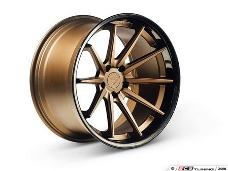"ES#3085050 - FR4201055112Z2kt - 20"" FR4 Style Wheels - Set Of Four - 20""x10.5"" ET38 66.6CB 5x112 Matte Bronze with Gloss Black lip - Ferrada Wheels - Audi"