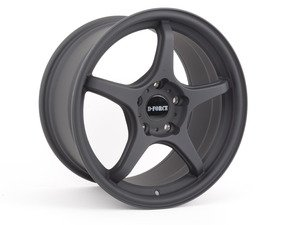 "ES#3035037 - TMS200172 - 17"" LTW5 - Square set of four - Flat Black  - A stylish, classic lightweight option -- 8.5"" Width - D-Force Wheels - BMW"