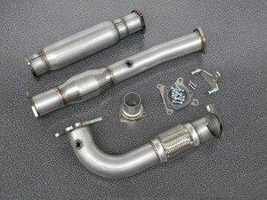 "ES#3079001 - 5382097 - 3"" High Flow Downpipe With Catalytic Converter - Resonated  - 304 Stainless Steel downpipe with catalytic converter and resonator. - 42 Draft Designs - Volkswagen"