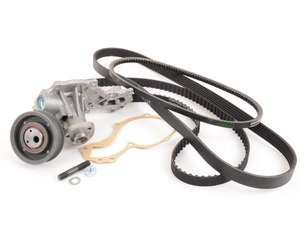 ES#1682 - 037109119CV2KT - ECS Tuning Timing Belt Kit - Ultimate - A kit including the revised tensioner design along with all drive belts and a water pump to give you a complete engine service - Assembled By ECS - Volkswagen