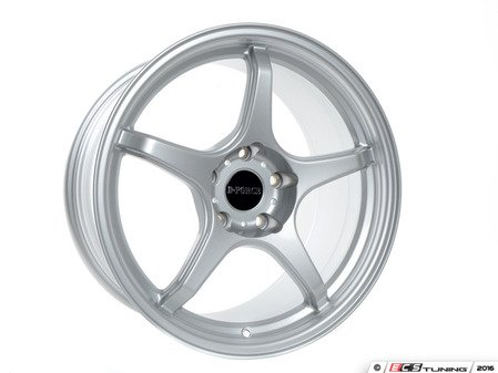 "ES#3035034 - E46-M3-LTW5-95S - 18"" LTW5- Square set of four - Silver - A stylish lightweight option  --  9.5"" Width - D-Force Wheels - BMW"