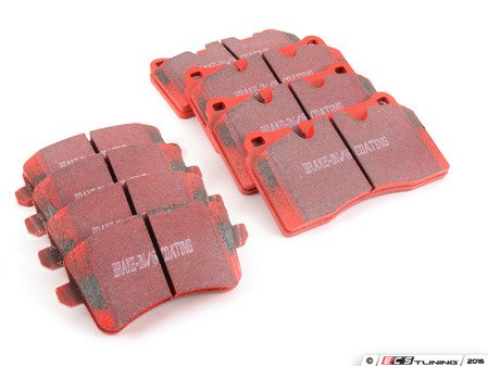 ES#3089093 - DP32070Ckt1 - Front & Rear RedStuff Performance Brake Pad Kit - Restore your braking power on all four corners with upgraded pads! - EBC - Audi