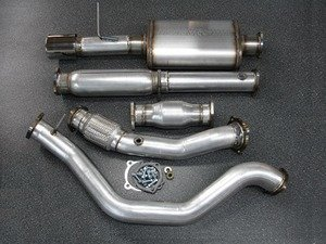 """ES#3082194 - 9991095 - 2.5"""" Turbo Back Exhaust System - Stainless Steel  - 2.5"""" 304 stainless steel with high flow catalytic converter and a single 4"""" polished double wall stainless tip - 42 Draft Designs - Volkswagen"""