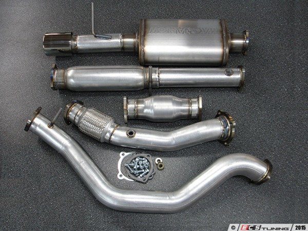 "ES#3082194 - 9991095 - 2.5"" Turbo Back Exhaust System - Stainless Steel  - 2.5"" 304 stainless steel with high flow catalytic converter and a single 4"" polished double wall stainless tip - 42 Draft Designs - Volkswagen"