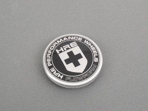 ES#3048122 - CAP-HRE-BLK-FF - HRE FlowForm Wheel Center Cap (Silver on Black)  - Replacement center cap for the FormFlow wheels - HRE - Audi BMW Volkswagen Mercedes Benz MINI Porsche