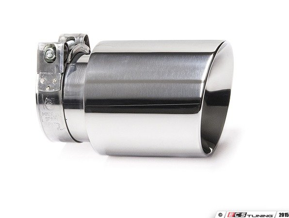 "ES#3508475 - EX-91-52CPL - 3.0"" Clamp On Exhaust Tip - Polished  - Stainless Steel exhaust tip featuring clamp on attachment. 2.5"" Inlet / 3"" Double Wall, Slant Cut Outlet - 42 Draft Designs - Audi BMW Volkswagen"