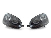 ES#1848614 - 1KD998005/006blk - European Halogen Blackout Headlight Set - Plug and play blackout housings for a unique look and improved visibility. Select your favorite bulbs! - ZiZa - Volkswagen