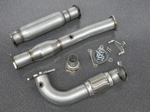 """ES#3076177 - 1087400 - 3"""" High Flow Downpipe With Catalytic Converter - Non-Resonated - 304 Stainless Steel downpipe with catalytic converter. - 42 Draft Designs - Volkswagen"""
