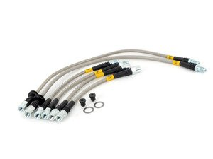 ES#3034074 - PLB533106D-E28 - Stainless Steel Brake Line Set  - Designed to create a quicker, firmer, more consistent pedal response - DOT compliant - Turner Motorsport - BMW
