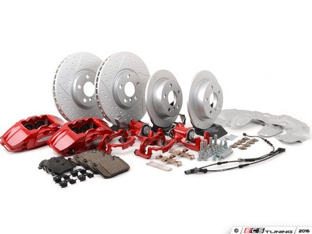 ES#4265370 - 34112352872KT - JCW 4 Piston Sport Brake Kit Retrofit With Performance Brake Fluid Flush Kit - Level 3 - Priced As Kit F55 F56 F57 - Upgrade your brake system to JCW brakes and complete the install! - Assembled By ECS - MINI