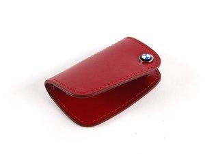 ES#256662 - 80232149933 - Nappa Leather Key Case - Red - Covers the late model BMW key fob - Genuine BMW - BMW