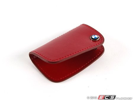 ES#256662 - 80232149933 - Nappa Leather Key Case - Red - Covers the late model BMW key fob - Genuine BMW - BMW