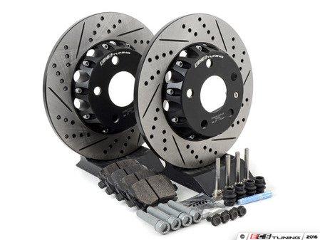 ES#3085679 - 1K0615601DKT3 - Performance Rear Brake Service Kit (282x12) - Featuring ECS Cross-Drilled & Slotted 2-Piece Brake Rotors and Hawk HPS pads - Assembled By ECS - Volkswagen