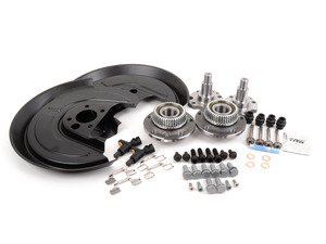 ES#2771518 - 1j0615609KT - 337/20th/GLI Rear Brake Upgrade Installation Kit - Complete kit needed to install the larger ventilated rear brakes from the 337/20th/GLI models - Assembled By ECS - Volkswagen