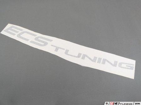 """ES#2795991 - BK47X6WBAN - Vinyl Windshield Banner - Black - 6"""" x 47"""" window sticker - Show some love for your favorite tuning company - ECS - Audi BMW Volkswagen Mercedes Benz MINI Porsche"""
