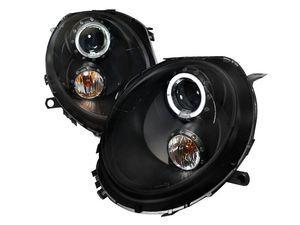 ES#3021246 - 2LHPMINI06JMTM - Halo LED Projector Black Headlights - Pair 2LHP-MINI06JM-TM - LED DRL and black housing halogen projector headlight set! - Spec-D Tuning - MINI