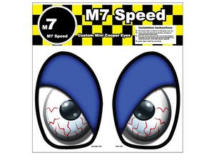 ES#3089006 - 92-9010 - M7 Eye Decal Set - Bloodshot Blue - Add some eyes to your engine bay wheel well - M7 Speed - MINI