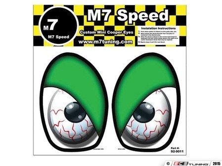 ES#3089007 - 92-9011 - M7 Eye Decal Set - Bloodshot Green - Add some eyes to your engine bay wheel well - M7 Speed - MINI