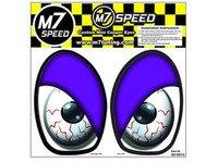ES#3089010 - 92-9014 - M7 Eye Decal Set - Blood Shot Purple - Add some eyes to your engine bay wheel well - M7 Speed - MINI