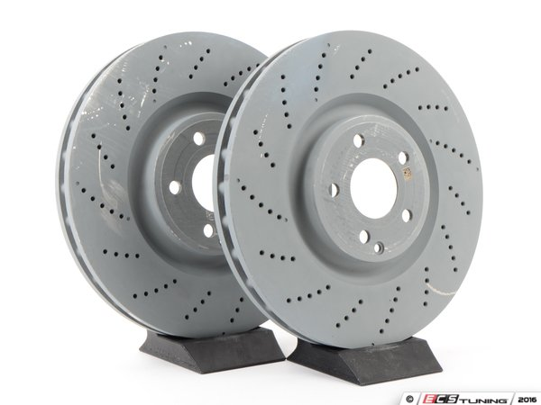 Genuine mercedes benz 0004211712kt1 front brake rotors for Mercedes benz rotors