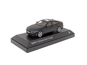 ES#2912437 - 80422348790 - 1:43 BMW 4-Series Gran Coupe Scale Model - Black - A perfect addition to any enthusiast's die-cast collection - Genuine BMW - BMW