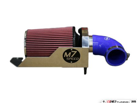 ES#3098131 - 56-312144 - M7 Speed MAXX-FLO Air Intake System - Low restriction cloth air filter which adds more air flow : polished : blue elbow : cloth filter - M7 Speed -