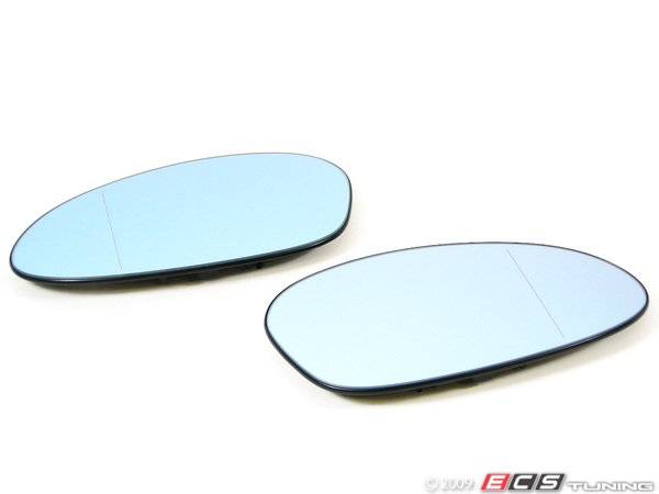 ES#251356 - 7145267268 - European Heated Blind Spot Mirror Set - Left  right blue tinted European split mirrors to allow you to see down the side of your vehicle - Genuine European BMW - BMW