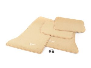 ES#1827540 - Q6680179 - Carpeted Floor Mat Set - Parchment - Genuine Mercedes Benz - Mercedes Benz