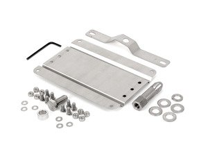 ES#3089102 - 0002S-AU1-50 - No Holes License Plate Bracket Kit - Avoid drilling holes in your bumper by utilizing a tow hook mounted plate bracket - GMG Motorsports - Audi