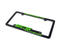 ES#2189943 - ECS-LP-FRAME-GRN - ECS Tuning License Plate Frame - Green - Black fade resistant plastic frame with raised letters - ECS - Audi BMW Volkswagen Mercedes Benz MINI Porsche