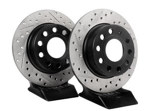 ES#3097828 - 127.33135rlKT - Sport Drilled & Slotted Rotors - Pair (253x10mm) - Increase stopping performance and visual appearance - StopTech - Audi Volkswagen