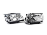 ES#3021440 - LHJET99RS - Chrome Headlights - Pair - Euro spec OE style headlights with chrome housing - Spec-D Tuning - Volkswagen