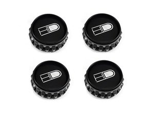 ES#3098829 - pce67-gm-mbKT - Gear Center Cap Kit - Gunmetal - Set Of Four - Gunmetal colored center caps for HD Tuning Gear wheels - HD Tuning - Audi Volkswagen